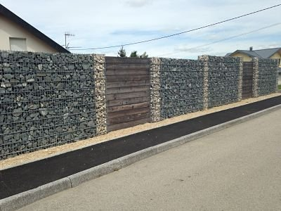 prix d un mur en gabion palissade bois design. Black Bedroom Furniture Sets. Home Design Ideas